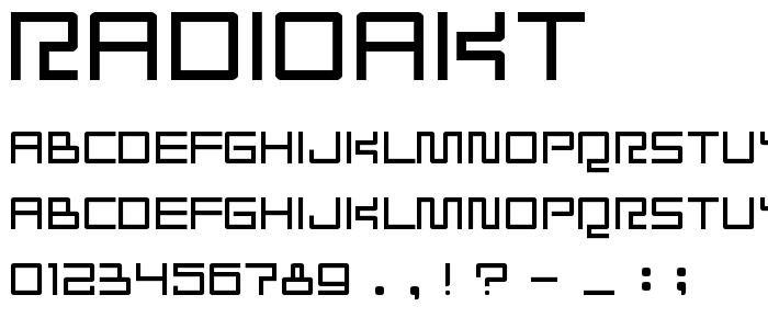 Radioakt font