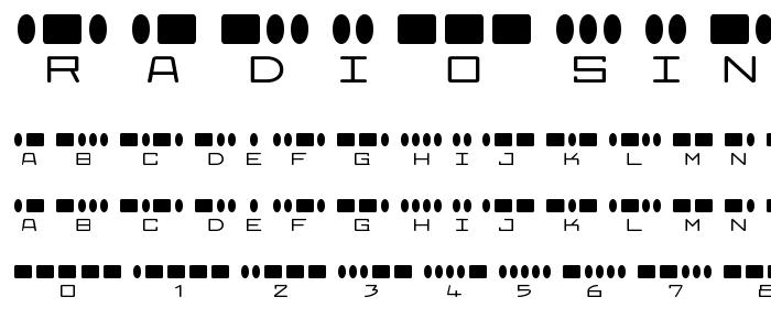 Radiosin font