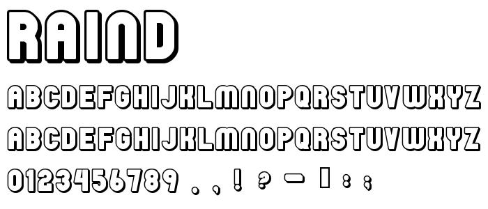 Raind font
