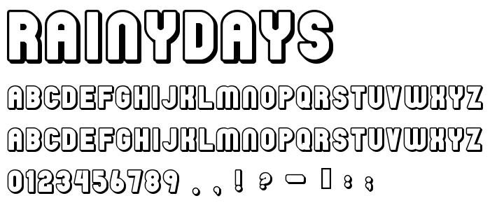 Rainydays font