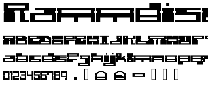 Rammdisc font