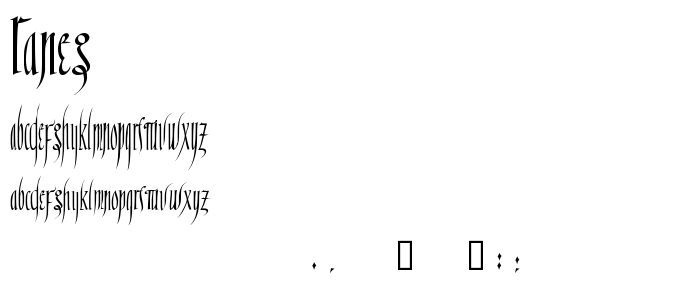 Raneg font