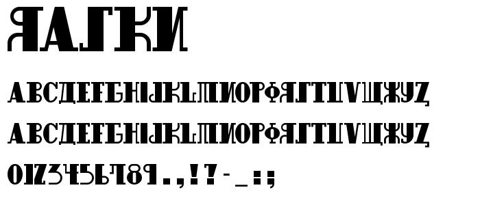 Raskn font