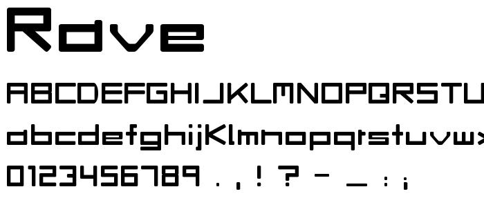 Rave font
