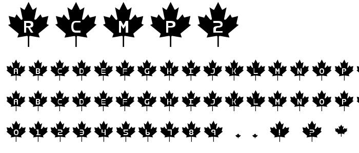 Rcmp2 font