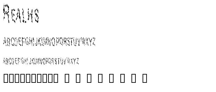 Realhs font