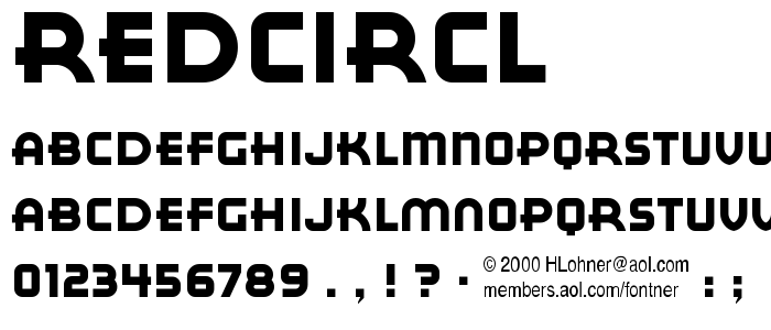 Redcircl font