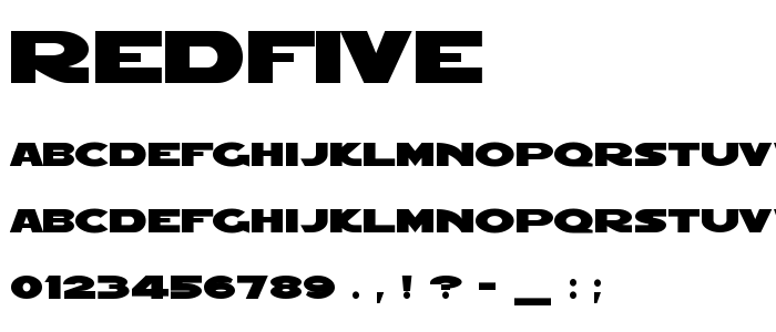 Redfive font