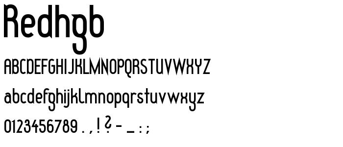 Redhgb font