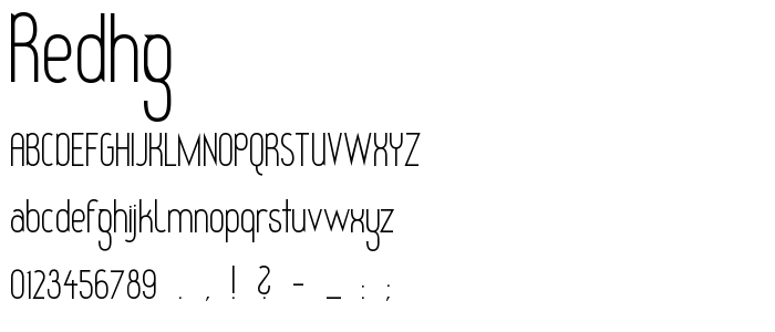 Redhg font