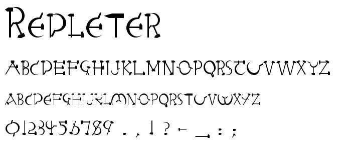 Redleter font