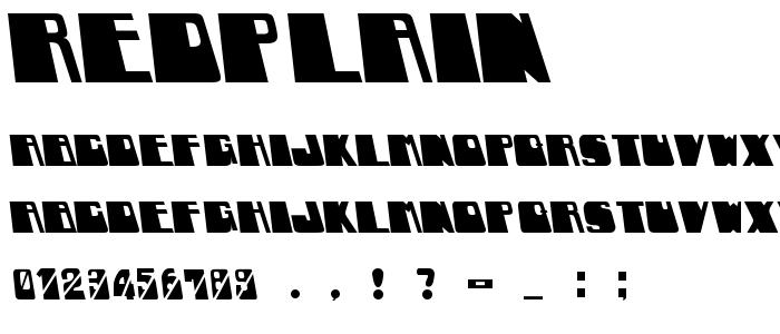 Redplain font