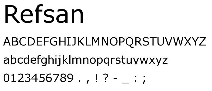 Refsan font
