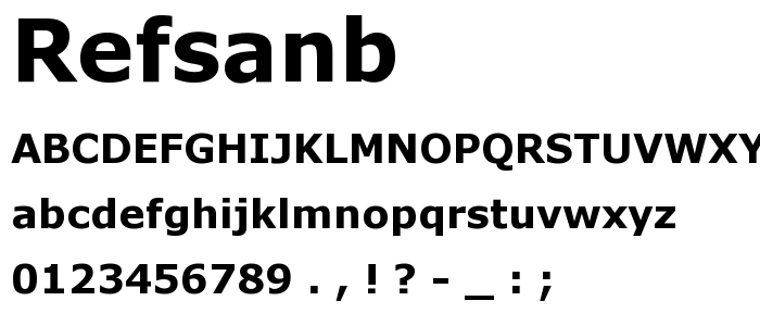Refsanb font