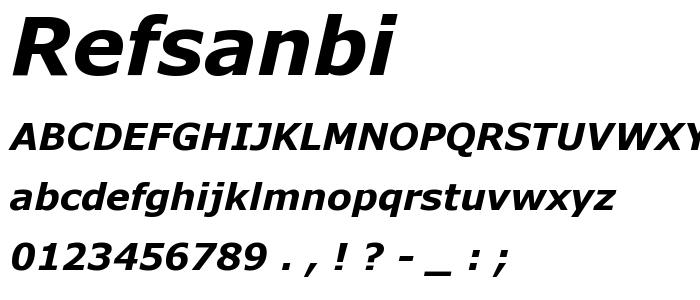 Refsanbi font
