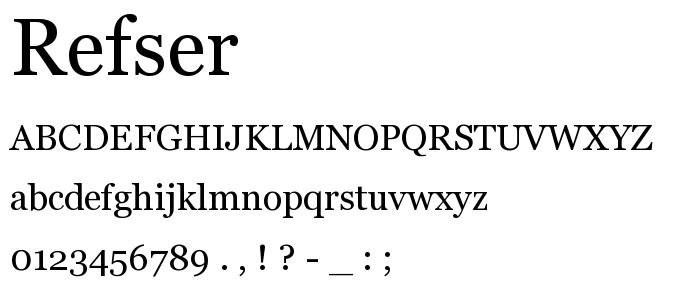 Refser font