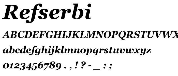 Refserbi font