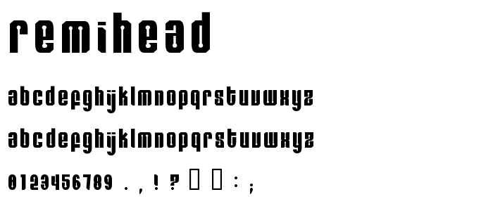 Remihead font