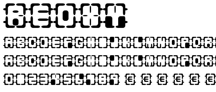 Reoxy font