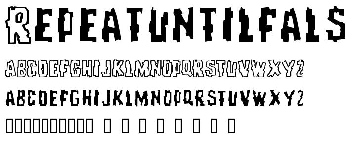 Repeatuntilfalse font