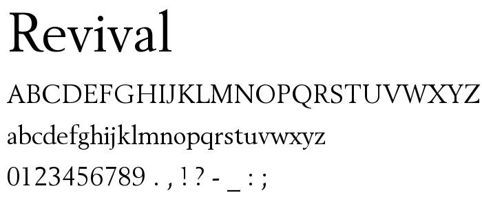 Revival font