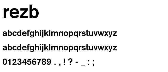 Rezb font