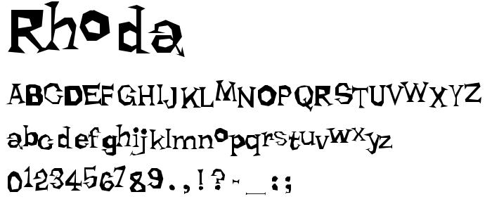 Rhoda font