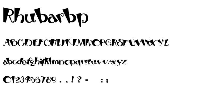Rhubarbp font