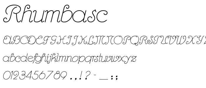 Rhumbasc font