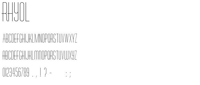 Rhyol font