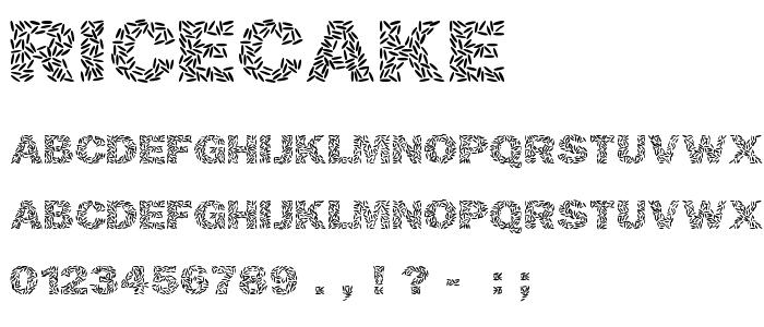 Ricecake font