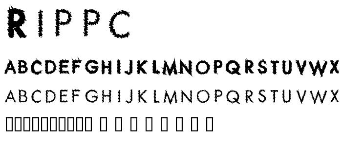 Rippc font