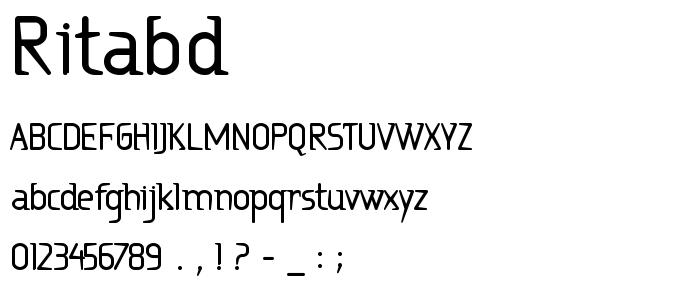 Ritabd font