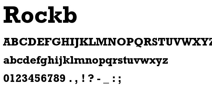 Rockb font