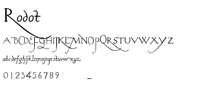 Rodot font