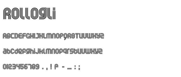 Rollogli font