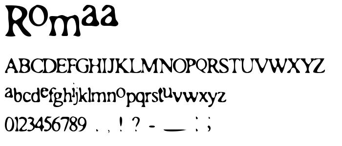 Romaa font