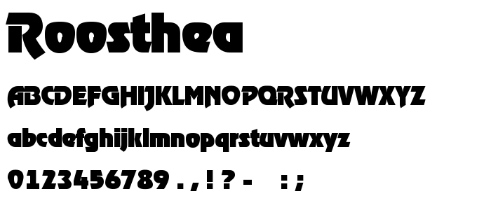 Roosthea font