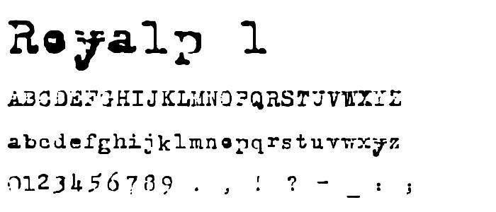 Royalp 1 font