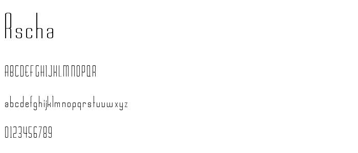 Rschasli font