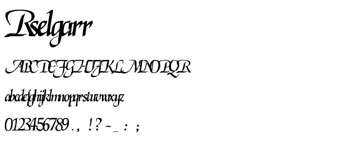 Rselgarr font