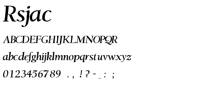Rsjackso font