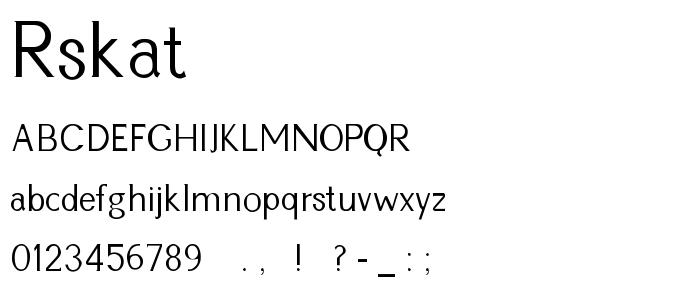 Rskathli font