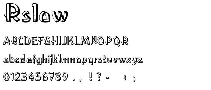 Rslowere font