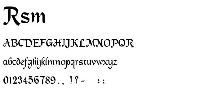 Rsmachum font