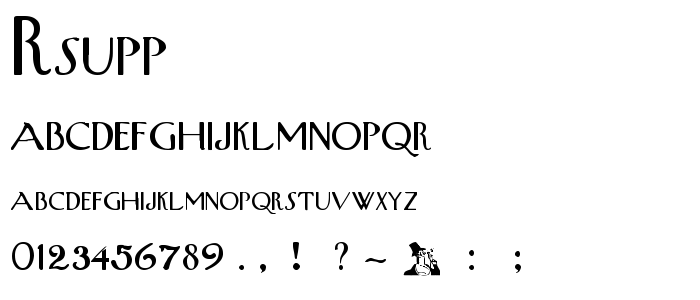 Rsupperw font