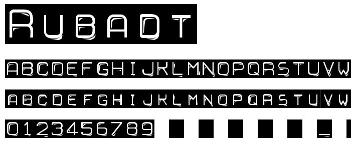 Rubadt font