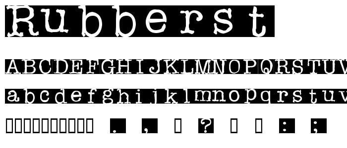 Rubberst font