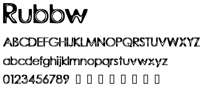 Rubbw font