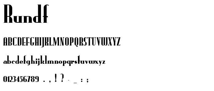 Rundf font
